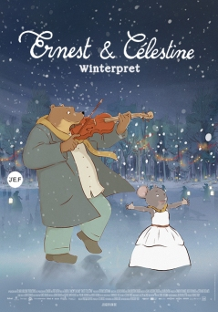 ernest & célestine winterpret poster miniatuur
